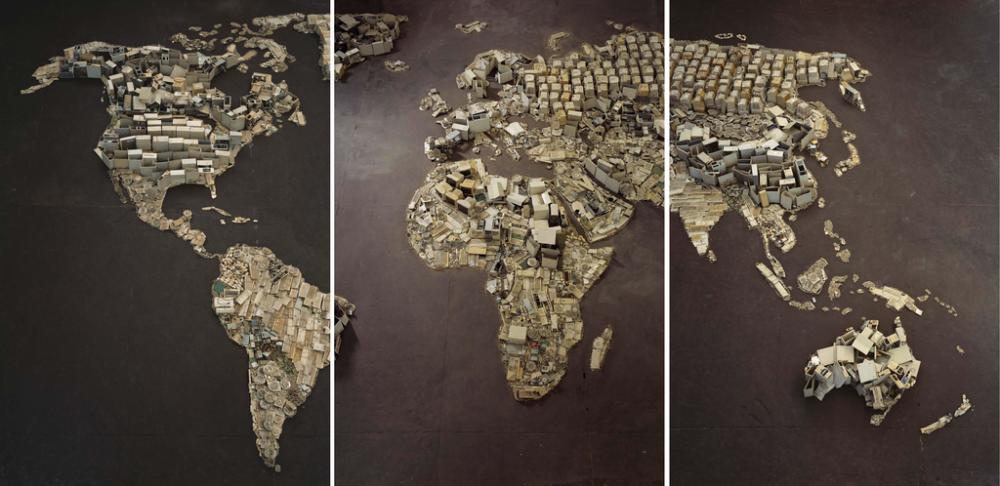 -Vik Muniz, WWW (World Map), Pictures of Junk